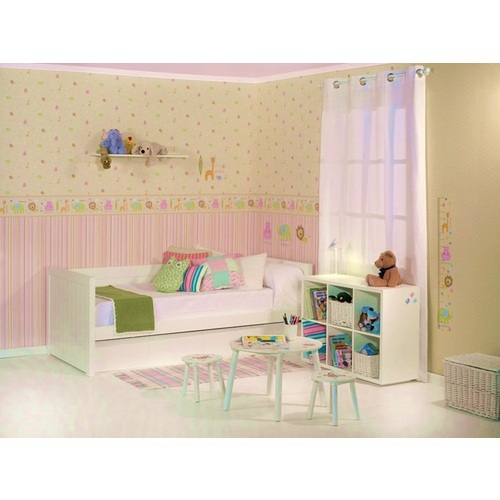 Kinderzimmer Tapete Jungle : Kinderzimmer Tapete Dschungeltiere Beige Blau Pictures to pin on