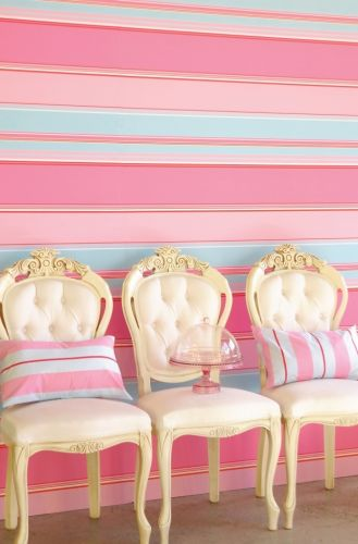 tapete rosa rot blau mit streifen bei oliundniki kaufen. Black Bedroom Furniture Sets. Home Design Ideas