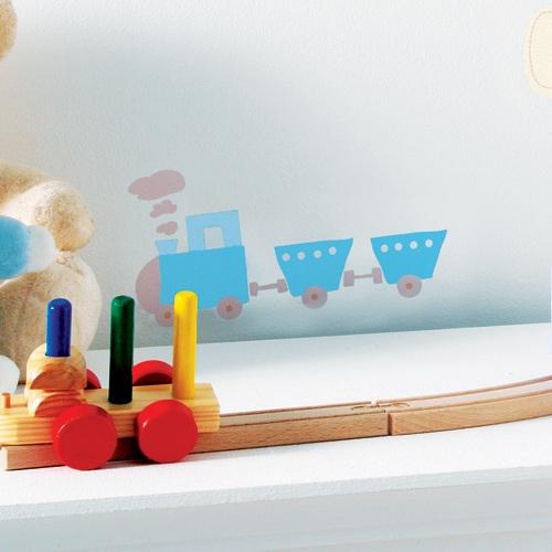 wandsticker buchstaben in blau bei oli niki online kaufen. Black Bedroom Furniture Sets. Home Design Ideas
