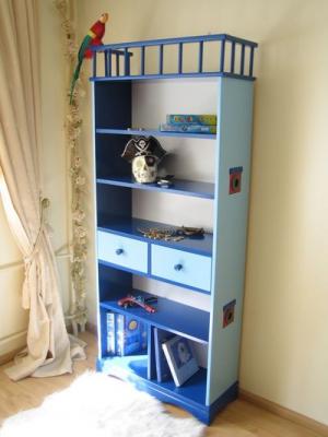 b cherregal piratenschiff blau oli niki. Black Bedroom Furniture Sets. Home Design Ideas