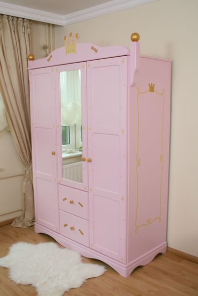 schrank 3 t rig prinzessin rosa bei oli niki kaufen. Black Bedroom Furniture Sets. Home Design Ideas