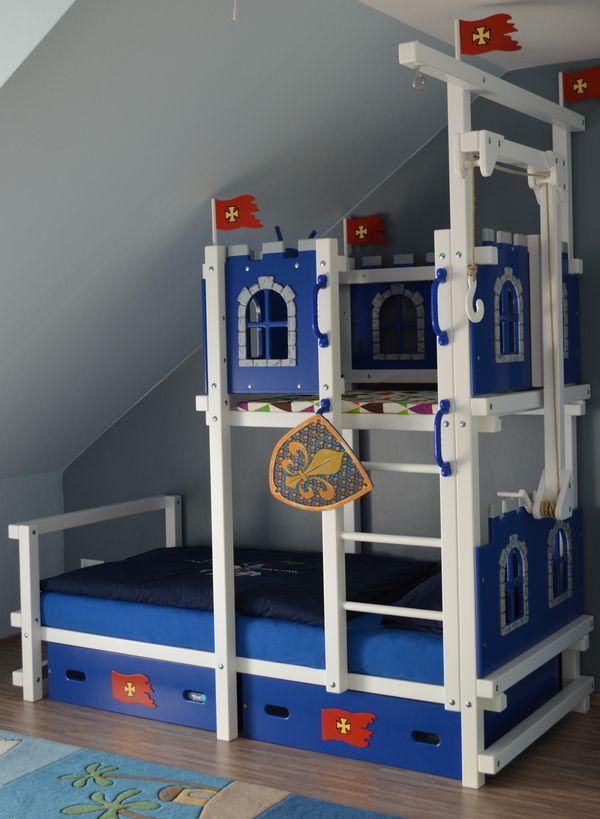 Hochbett ritterburg bei oli niki online bestellen - Kinderbett unter dachschrage ...