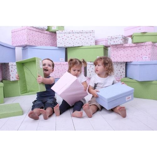 aufbewahrungsbox karo blau klein im shop von oli niki. Black Bedroom Furniture Sets. Home Design Ideas