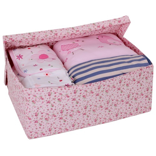 aufbewahrungsbox blumen rosa gro im shop von oli niki. Black Bedroom Furniture Sets. Home Design Ideas