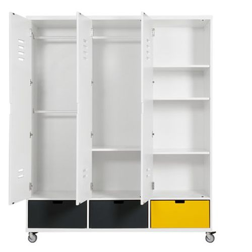 3 t riger kleiderschrank locker bopita bei oli niki kaufen. Black Bedroom Furniture Sets. Home Design Ideas