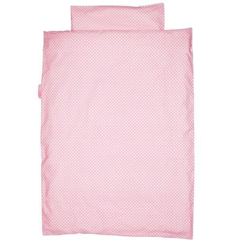 baby bettw sche punkte rosa taftan bei oli niki kaufen. Black Bedroom Furniture Sets. Home Design Ideas
