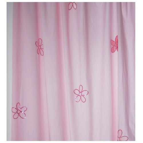 vorhang blumen in rosa im shop von oli niki. Black Bedroom Furniture Sets. Home Design Ideas