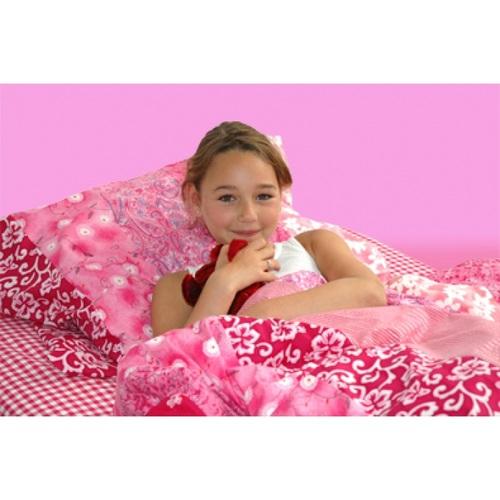 bettw sche patchwork flower power rosa rot im shop von oli niki. Black Bedroom Furniture Sets. Home Design Ideas