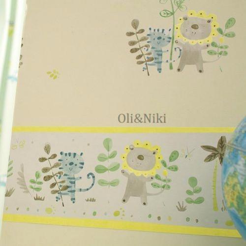 Bordüre Babyzimmer Löwe Grün