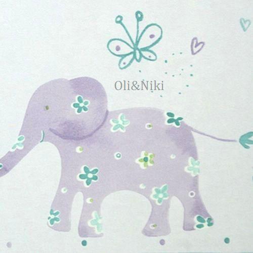 bordüre babyzimmer tiere in lila bei oli&niki kaufen