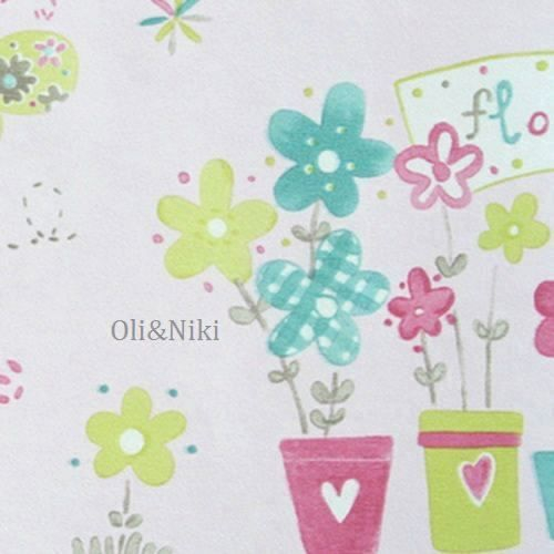 Bordüre Babyzimmer Maus in grün-rosa bei Oli&Niki bestellen