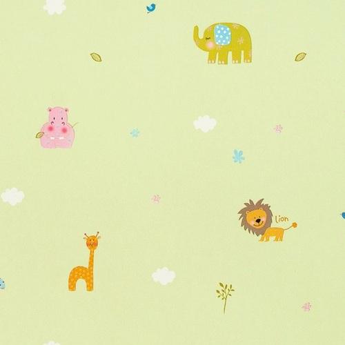 Bordüre Babyzimmer Safari in grün bei Oli&Niki bestellen