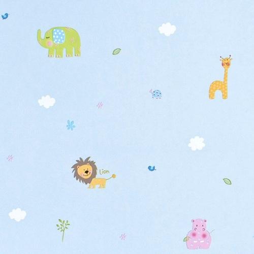 Bordüre Babyzimmer Safari in hellblau bei Oli&Niki kaufen