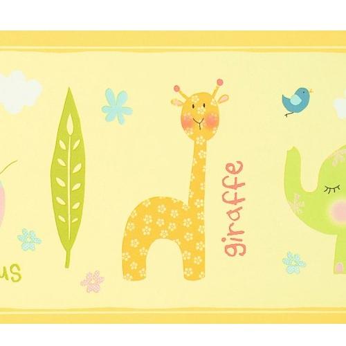 Bordüre Babyzimmer Safari in gelb bei Oli&Niki kaufen