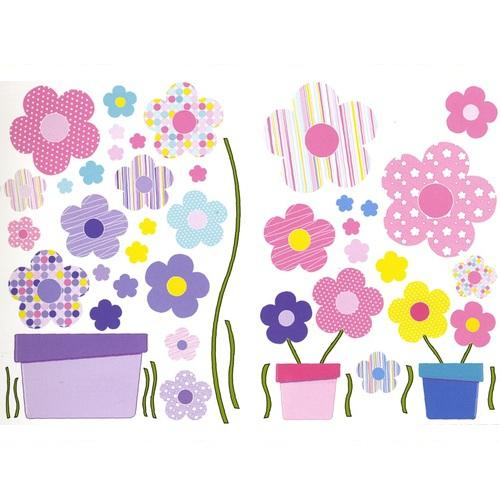 Babyzimmer Tapeten Bord?re : Bord?re Babyzimmer Blumen rosa-t?rkis bei Oli&Niki bestellen