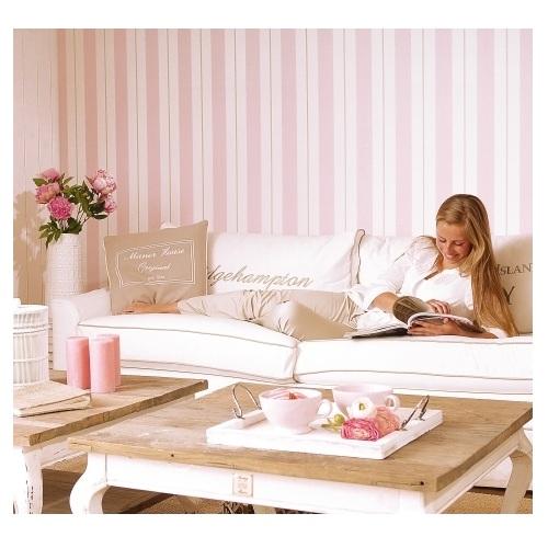 tapete rosa streifen breit von esta home. Black Bedroom Furniture Sets. Home Design Ideas