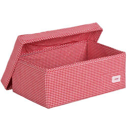 aufbewahrungsbox karo rot im shop von oli niki bestellen. Black Bedroom Furniture Sets. Home Design Ideas