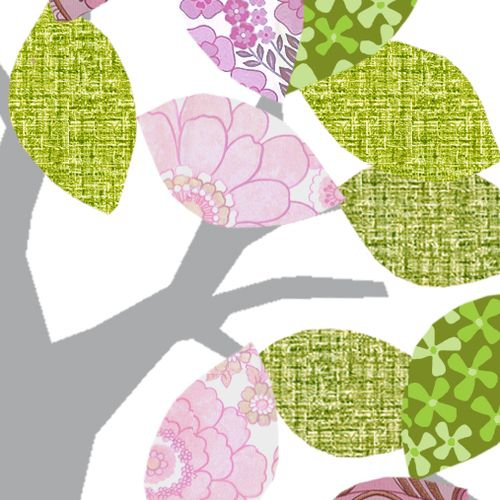tapetenbaum grau gr n rosa bei oli niki bestellen. Black Bedroom Furniture Sets. Home Design Ideas