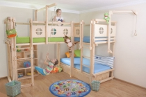 hochbetten kinderhochbetten oli niki. Black Bedroom Furniture Sets. Home Design Ideas