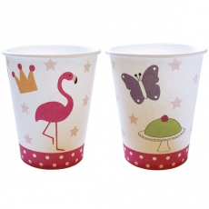 PARTY Becher pink Flamingo