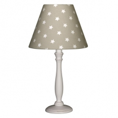 Tischlampe Sterne taupe