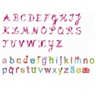 Wandsticker Alphabet girls %