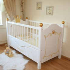 babybetten gitterbetten babybett komplett oli niki. Black Bedroom Furniture Sets. Home Design Ideas