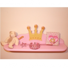 Wandregal Prinzessin rosa