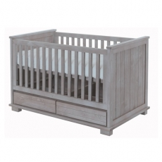 Babybett Malm� smoked grey