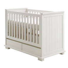 Babybett Malm� white brush