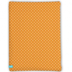 Spannbettlaken orange dots