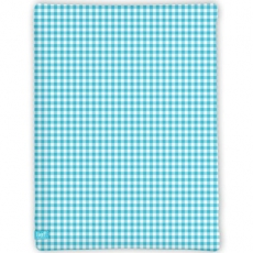 Spannbettlaken Light Blue Check