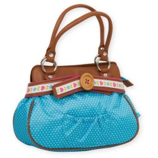 Handtasche Dots and flowers blue/pink