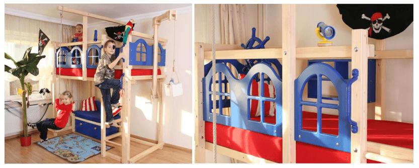 Top 5 hochbetten von oli niki so schl ft es sich gut - Piratenbett kinderzimmer ...